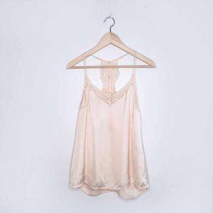 Selected Femme love lace satin racerback cami